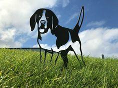 Beagle Metal Dog Garden Art Dog Garden, Garden Art, Metal Birds, Animal Silhouette, Patina Finish, Beagle, Pond, Art Decor, Your Dog