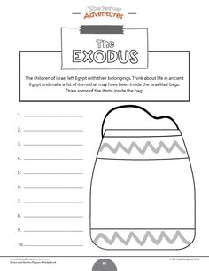Moses and the Ten Plagues printable Bible Activity Book for Kids. Learn all about the Ten Plagues, the Passover, and Unleavened Bread. Comprehension Activities, Bible Activities, Activity Books, Bible Quiz, Children's Bible, Sabbath School Lesson, Passover Story, Homeschool Preschool Curriculum, Bible Resources