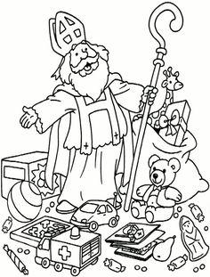 Kleurplaat Sinterklaas cadeautjes