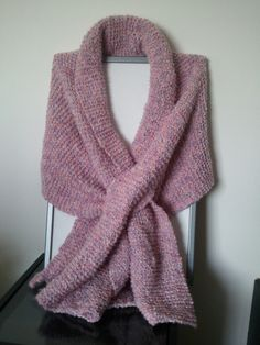 Sciarpa melange in lana merino.