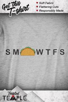 This funny t-shirt features a graphic to represent your love of Taco Tuesday. This holiday comes around 52 times a year. If you love Mexican food, riddles, and clever art, this T-shirt is for you. This tee is soft and flattering for men and women. Tuesday Humor, Taco Tuesday, Taco Clipart, Tequila Day, Taco Humor, Taco Shirt, My Taco, Feeling Broken, Good Jokes