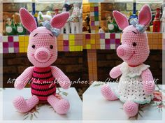 Boy and girl piglets. (No pattern)