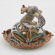 Ardmore Ceramics Leopard Butter Dish