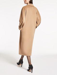 Manteau en laine et mohair, albino - GAETA Max Mara Celebrity Fashion Outfits, Fashion Brands, Camel Coat Outfit, Cashmere Coat, Striped Jacket, Wool Coat, Winter Coat, Coats For Women, Trench