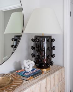 Hope your weekend is as fun as this lamp is!! We are loving this simple and elegant setup by @meganmolten featuring the extraordinary Linden Large Table Lamp in Black ✨  - @kellywearstler @visualcomfortco @margaret.wright Decorative Spheres, Visual Comfort Lighting, Large Table Lamps, Kelly Wearstler, Shades, Interior, Cl, Charleston, Ranch
