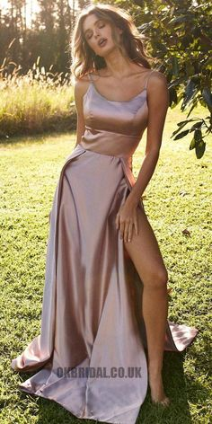 Popular Spaghetti Straps Prom Dresses,Long Party Dress with Side Split · SexyPromDress · Online Store Powered by Storenvy Split Prom Dresses, Straps Prom Dresses, Grad Dresses, Cheap Prom Dresses, Satin Dresses, Ball Dresses, Elegant Dresses, Pretty Dresses, Beautiful Dresses
