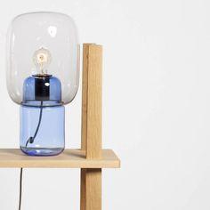 Sara et Bob : Lampes design en verre soufflé moulé