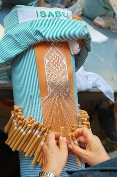 Bobbin Lace, I am going to give it a try. I have a beginner's kit, am thinking it will be quite awhile before I produce something this nice!