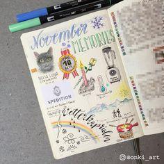 Bullet Journal monthly memories