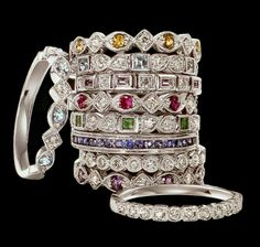 Family Ring stackable; all slightly different from each other
