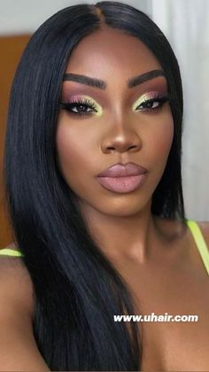 Weave Hairstyles, Straight Hairstyles, Pretty Makeup, Makeup Looks, Eco Hair, Makeup Inspiration, Makeup Inspo, Beautiful Bollywood Actress, 100 Human Hair