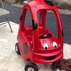 Lady bug cozy coupe.