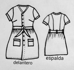 Patrón vestido vintage Fashion, Learn To Sew, Dress Patterns, Sewing Tutorials, Fabrics, Fashion Styles, Fasion, Fashion Illustrations, Moda