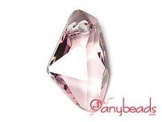 Light Rose - Austrian Swarovski Crystal Elements 6656 Galactic Vertical Pendant 19mm
