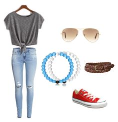 Untitled #19 by katherinedow on Polyvore featuring polyvore, fashion, style, H&M, Converse, Ray-Ban and Uniqlo