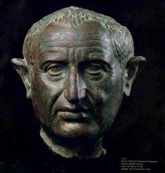 Roman Bronze Portrait of Emperor Vespasian - X.0147 Circa: 69 AD to 79 AD Barakat Gallery