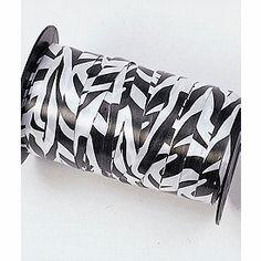 Zebra Curling Ribbon