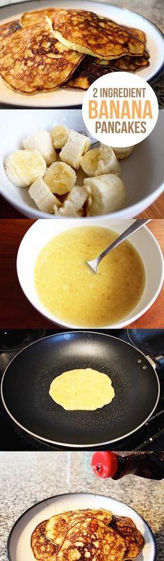 2 Ingredient Banana Pancakes food breakfast recipe recipes pancakes easy recipes eggs food tutorials food tutorial breafast recipes