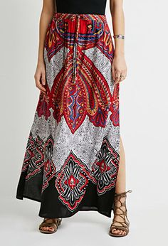 Ornate Paisley Maxi Skirt | LOVE21 |