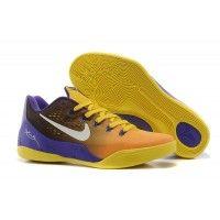 half off 121e3 2e0f3 Best Nike Kobe 9 Low EM Court Purple Yellow-White