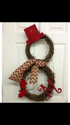 Winter wreath for front door decorations