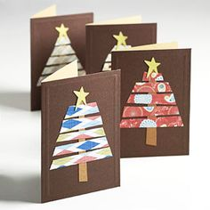 Homemade Holiday Cards or Class Art Project.