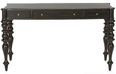 Black desk. Ethan Allen.
