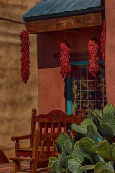 Red Chile Ristras Shop - Old Albuquerque, New Mexico / I love this because it reminds me of all the time we spent in Albuquerque where my Uncle lived