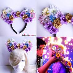 Rapunzel Mouse Ears, Tangled, Minnie Mouse Ears, Disneyland, Disney World, Disney, Mickey Mouse Ears, Mouse Ears