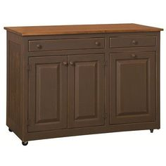 Chelsea Home Furniture Stellas Brown Kitchen Island 465-0242-FBS