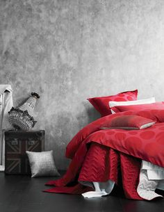 Comfy Bed Linens Design From Aura By Tracie Ellis Teen Boy Bedding, Red Bedding, Luxury Bedding, Linen Bedding, Bed Linens, Bedding Sets, Master Suite, Modern Bed Linen, Queen Bed Quilts