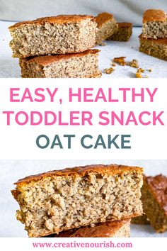 Toddler meals 663014376378316754 - Simple, easy, fluffy and healthy toddler snack – oat cake. Made from bananas, oats, eggs. Source by creativenourish Toddler Dinner Recipes, Toddler Smoothie Recipes, Healthy Toddler Snacks, Toddler Smoothies, Picky Toddler Meals, Healthy Meals For Kids, Baby Food Recipes, Toddler Dinners, Toddler Lunches