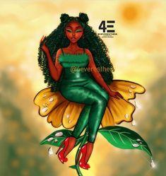 Black Love Art, Black Girl Art, Black Is Beautiful, Black Girl Magic, Art Girl, Black Girl Cartoon, Girl Artist, Samurai Art, Afro Punk