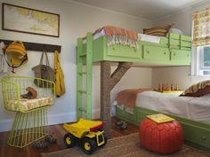zweite ebene kinderzimmer bauen design tapeten birkenbäume motiv, Schlafzimmer design