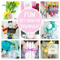 25 Fun Gift Ideas for Friends-everything from fun birthday gift ideas for friends to things to simply brighten a friend's day. She'll love these gifts!