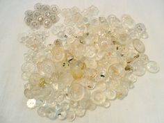 Antique / Vintage Lot of 207 Clear BUTTONS Mostly by KathiJanes