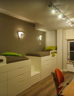 With bunk bed on top