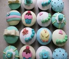 Image result for baby boy cupcakes