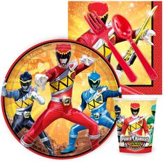 PartyBell.com - Power Rangers Dino Charge Snack Party Pack
