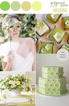 Add some color with variations of green tones