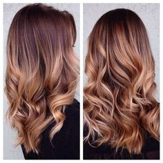 Time for fall hairstyles! This fall we see many balayage hairstyles and many hairstyles with highlights: they usually give your hair a very natural touch. So: balayage hairstyles. Pelo Color Caramelo, Hair Color And Cut, Hair Day, Girl Hair, Gorgeous Hair, Pretty Hairstyles, Casual Hairstyles, Popular Hairstyles, Summer Hairstyles