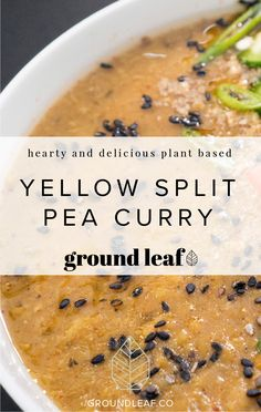 This recipe has legumes and grains together for a filling meal. We particularly love this as a warm, savory breakfast option. Throw everything in the pressure cooker when you wake up and have breakfast ready before you walk out the door. Yellow Split Pea Recipe, Yellow Split Pea Soup, Mason Jar Meals, Meals In A Jar, Vegetarian Crockpot Recipes, Cooking Recipes, Rice Instant Pot Recipe, Legumes Recipe, Pressure Cooker Recipes