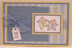 Twin Boys by stamping_KML - Cards and Paper Crafts at Splitcoaststampers