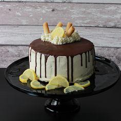 Zitronen Mascarpone Torte  Lemon mascarpone cake   chocolate ganache