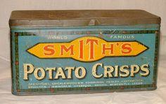 Smith's Potato Crisps Tin 1930s ♥♥