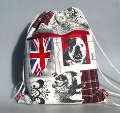 Sac à dos en coton à motifs style anglais : Sacs à dos, cartables par…