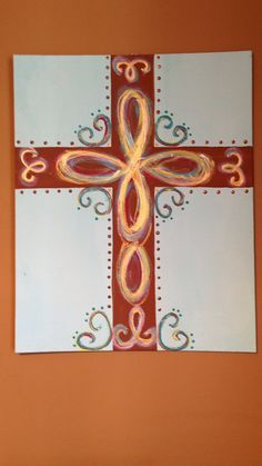 Hand-painted Cross Canvas