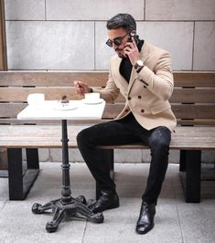 efashionlist~Men's fashion clothes and accessories online shop. Suit Up, Suit And Tie, Urban Fashion, Mens Fashion, Fashion Outfits, Fashion Styles, Beige Blazer, What To Wear Today, Business Casual Outfits