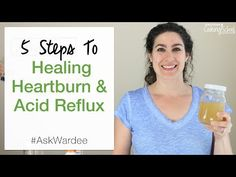 Tired of using prescriptions to manage painful, uncomfortable GERD? Watch, listen, or read for my 5 steps to healing heartburn and acid reflux naturally! Treatment For Heartburn, How To Relieve Heartburn, Heartburn Symptoms, Natural Remedies For Heartburn, Reflux Symptoms, Reflux Disease, Signs Of Acid Reflux, Stop Acid Reflux, Acid Reflux Relief
