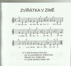 Zvířátka v zimě Diy For Kids, Crafts For Kids, Kids Songs, Sheet Music, Preschool, Children, Winter, Google, Animals